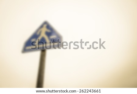 Walking sign in blur style - stock photo