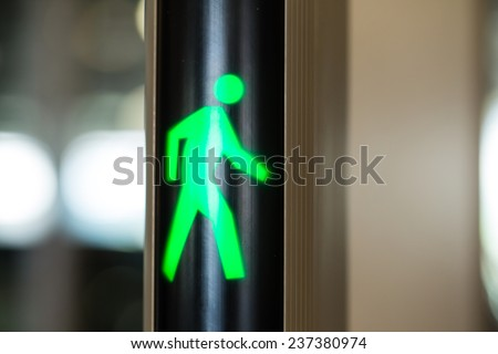 Walking sign security green light walking stock photo 237380974 walking sign security green light walking pass sign aloadofball Image collections