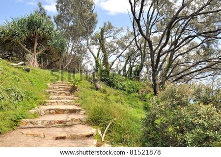 Walking track on the North Stradbroke Island, Australia - stock photo
