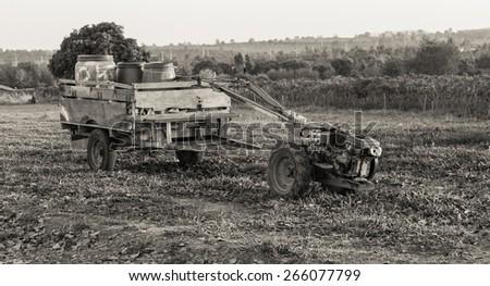 Walking Tractor - stock photo