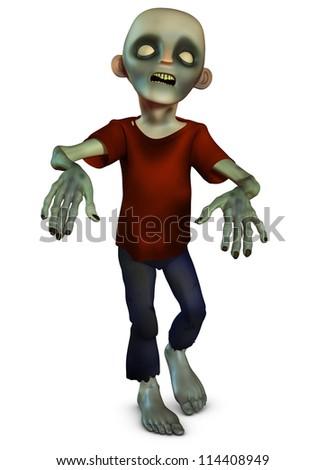 walking zombie - stock photo