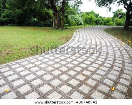 walkway - stock photo