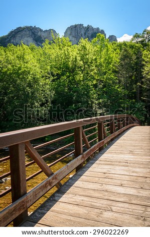 Walkway at High Allegheny - stock photo