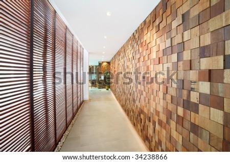 walkway interior design - stock photo