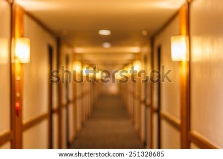 Walkway lighting Bokeh - stock photo