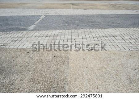walkway on street - stock photo
