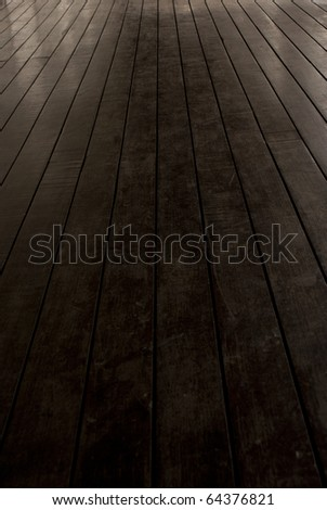 Walkway perspective with space for text - stock photo