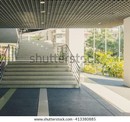 walkway stairs  - stock photo