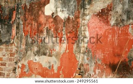 Wall abstract in Havana, Cuba - stock photo