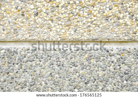 Wall And Floor Pattern Of Gravel Stone  - stock photo