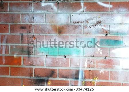 Wall and Graffiti - stock photo