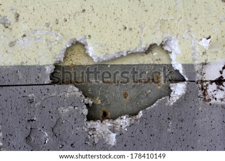 Wall and Hole - stock photo