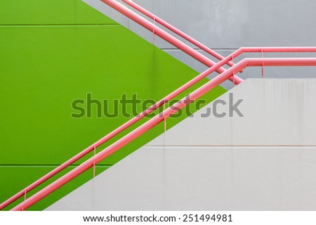 wall and railing background - stock photo