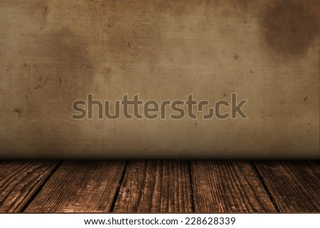 wall and wooden floor in a grunge style background