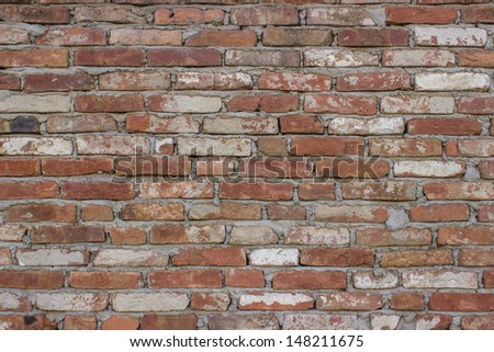 wall background, Brick background, Brick Mortar Material Wall  - stock photo