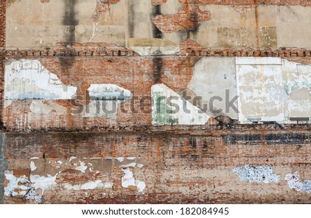 wall background texture of old brick buildings