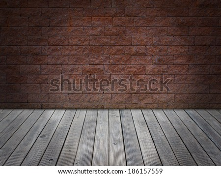 wall brick floor wood vintage