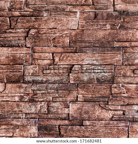 Wall built of natural stone. Can be used as background