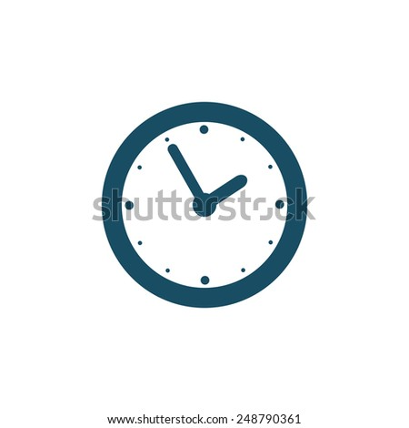 Wall clock icon. Raster version. - stock photo