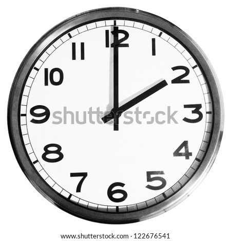 Wall clock isolated - stock photo
