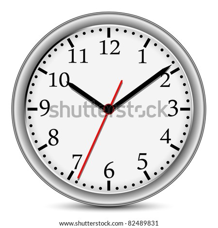 wall clock isolated on a white