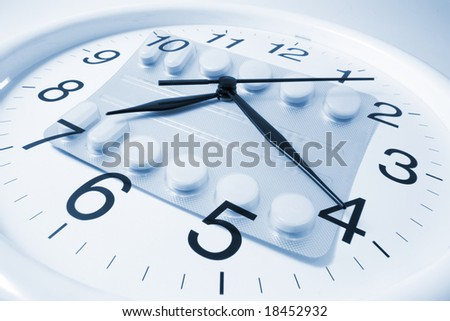 Wall Clock on Seamless Background