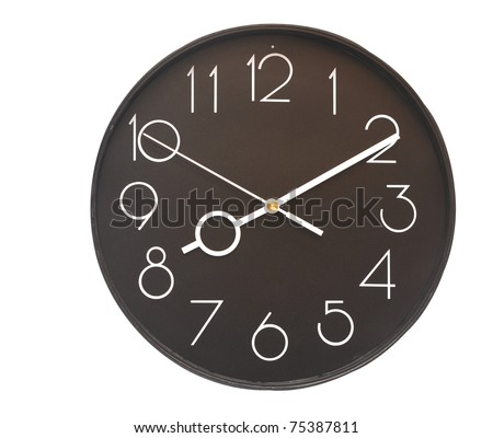 wall clock on the white background - stock photo