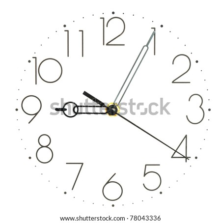 wall clock on white - stock photo