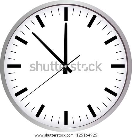 Wall Clock. Raster Version. - stock photo