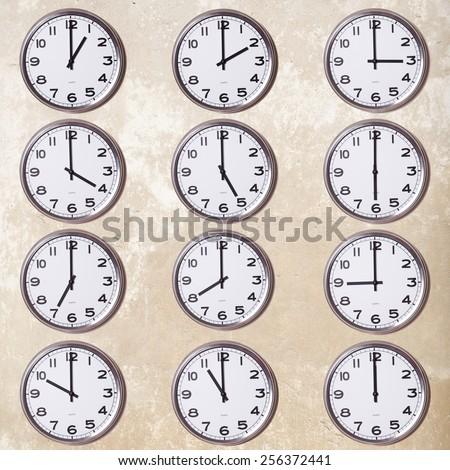 wall clocks - stock photo