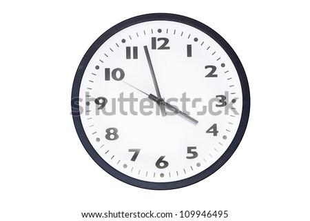 Wall clocks isolated on white - stock photo