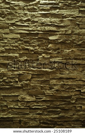 Wall colored gold