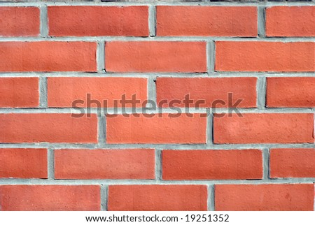 wall decorating by red bricks