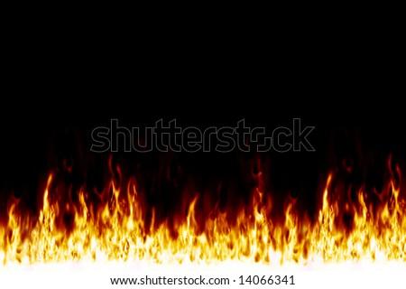 wall-fire - stock photo
