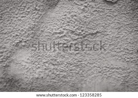 Wall foam insulation to save heating energy - stock photo