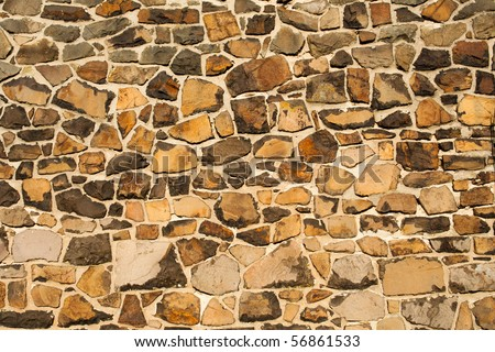 wall from big stone, wallpaper - stock photo
