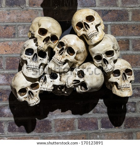 Wall full of skulls