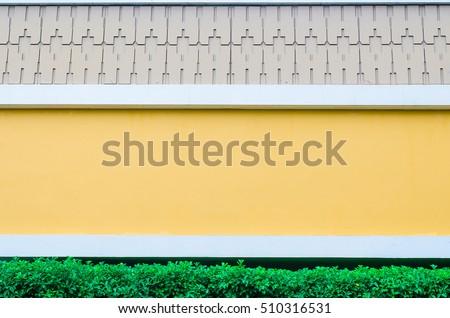 Wall Green Tree Yellow Walls White Stock Photo 510316531 - Shutterstock