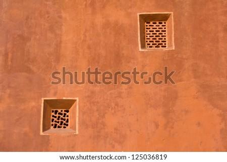 Wall Hawa Mahal Palace, Jaipur, Rajasthan, India. - stock photo