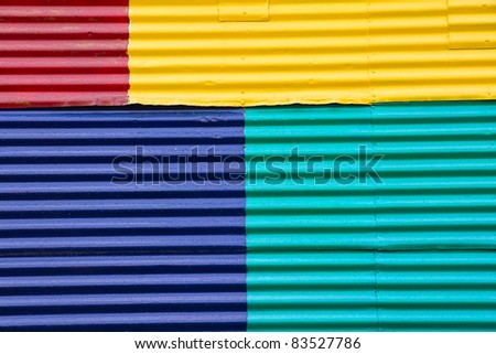 Wall in La Boca, Buenos Aires - stock photo