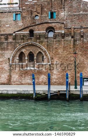 Wall in Venice, Italy - stock photo