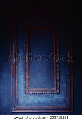 Wall in vintage interior  - stock photo