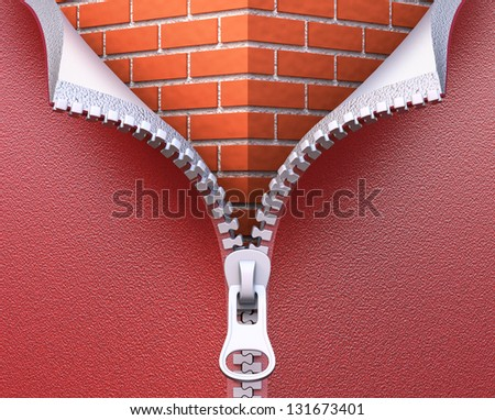 Wall insulation concept - stock photo