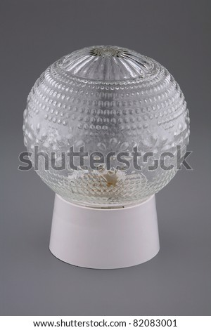 Wall lamp on a gray background