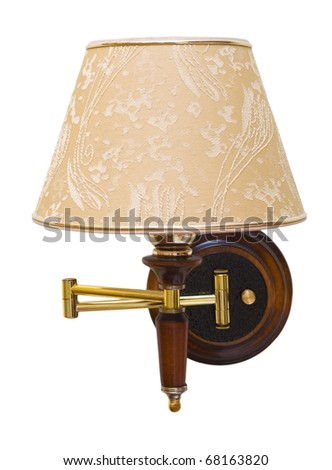 Wall lamp on white background