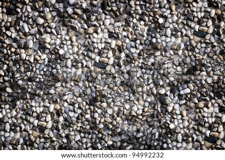wall little stones - stock photo
