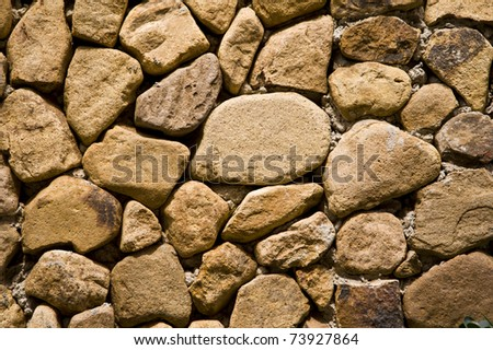 wall made from stone