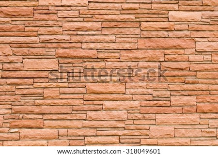 Wall Made of Various Dimensions of Sandstone Bricks  - stock photo