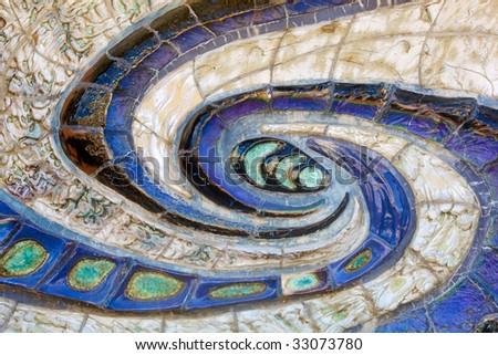 Wall Mosaic Swirl - stock photo