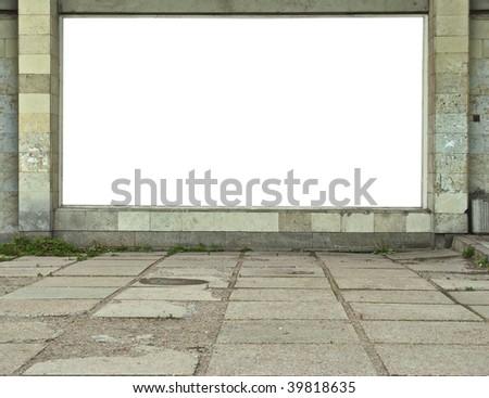Wall-mounted billboard - stock photo